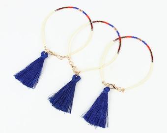 Beaded Bracelet, Fashion Bracelet, Friendship Bracelet, Tassel Bracelet