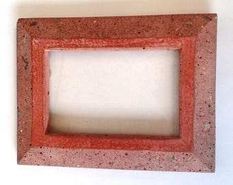 Red Concrete 4x6 picture fram