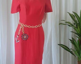 NWT 1980s Nautical Dress