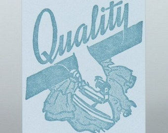 QUALITY Iron Vintage Image Letterpress Gift Tags with Envelopes 20 pack