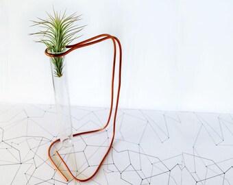 Tillandsia Inhaber minimalistischen Übertopf Kupfer Schreibtisch Dekor, Pflanzer Schreibtisch Geschenk, Luft Pflanzer Geschenke, Schreibtisch-Geschenke für sie, geometrische Übertopf