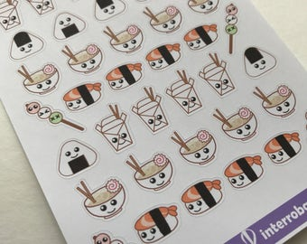 A05 - Asian Food - Planner Stickets - Kawaii