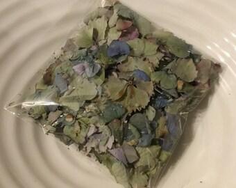 Dried hydrangea confetti petals