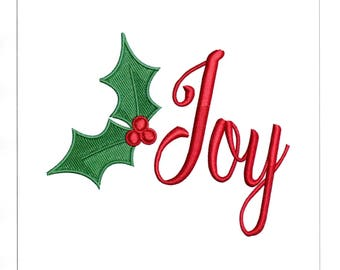 Embroidery Designs Holly Leaves Joy