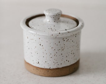Store Jars - White Speckled