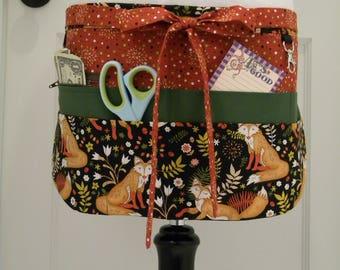 Teacher Aprons-Crafter Vendor Utility Apron-Autumnal Fox