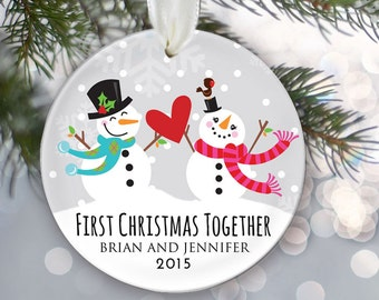 Our First Christmas Together Ornament Personalized Christmas