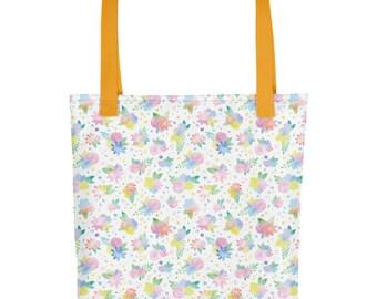 Watercolor Floral Tote bag