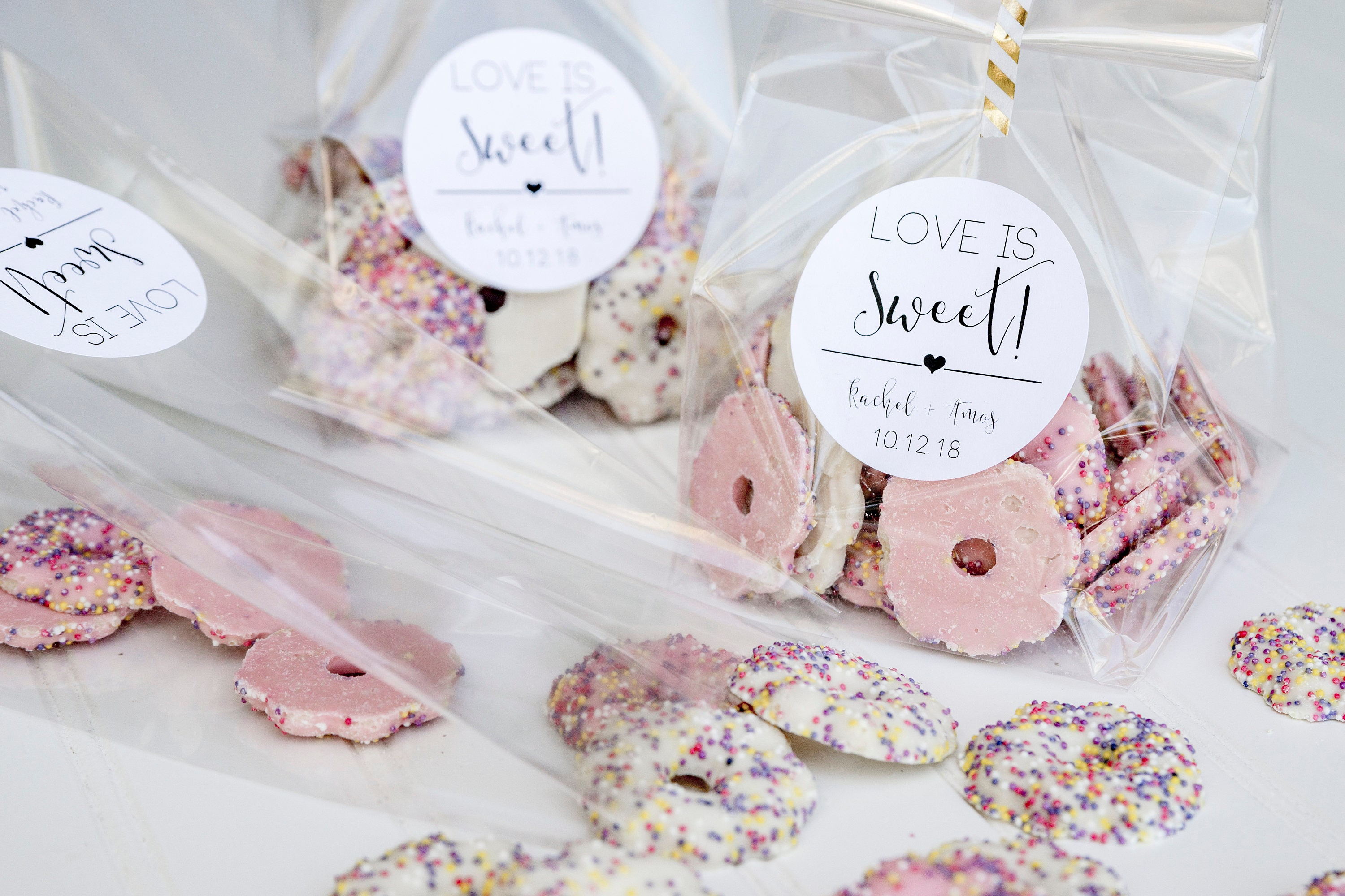 Love Is Sweet Personalized Wedding Favor Bags Candy Buffet