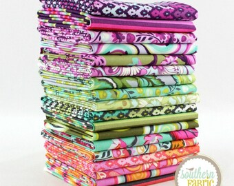 "Chipper - Fat Eighths Bundle - 18 - 9""x21"" Cuts - Tula Pink - Free Spirit Quilt Fabric"