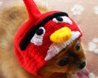 Angry Birds Dog Hat-Angry Birds Dog Snood-Knit Angry Birds Dog Hat-Knit Angry Birds Hat for Dog-Dog Hat-Hand Knit Dog Hat-Dog Costume. & Dog HatBig Eye Frog Hat greyhound hat dog snood hats for