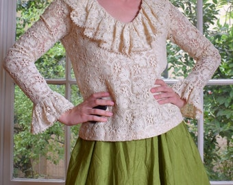 Victorian Style Crocheted Top