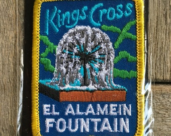 Kings Cross El Alamein Fountain Australian Vintage Travel Souvenir Patch By Perfection Souvenirs