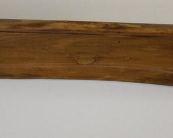 Solid Poplar Wood Wall Shelf