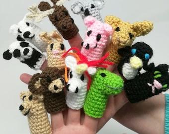 15 animal finger puppets crochet pattern