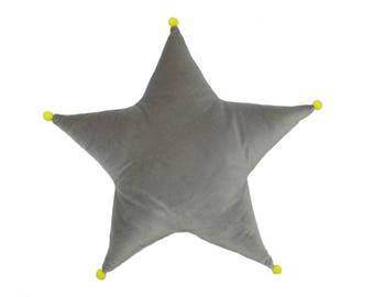 star pillow //star cushion // grey star cushion // nursery decor // kids room decor