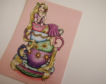 Teacup Rapunzel Postcard