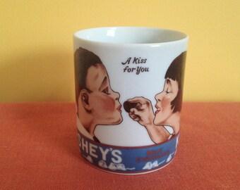 """Hershey's Kisses 12 oz Coffee Mug """"A Kiss For You"""""""
