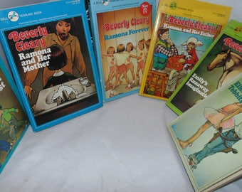 Vintage 1970s-80s Beverly Cleary PB Books Set of Six Yearling Ramona Ellen Tebbits Emily