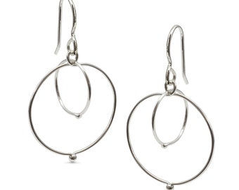 Entwined Fused Circle Earrings