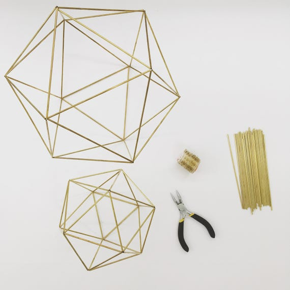 Diy kit pattern geometric icosahedron himmeli wedding diy kit pattern geometric icosahedron himmeli wedding centerpiece coffee table decor minimalist orb brass sphere airplant mobile from junglespirit Choice Image