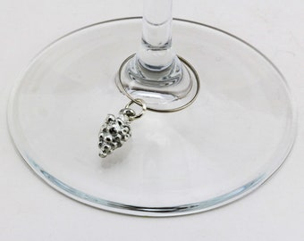 Fruit Grapes - Wine Glass Charm