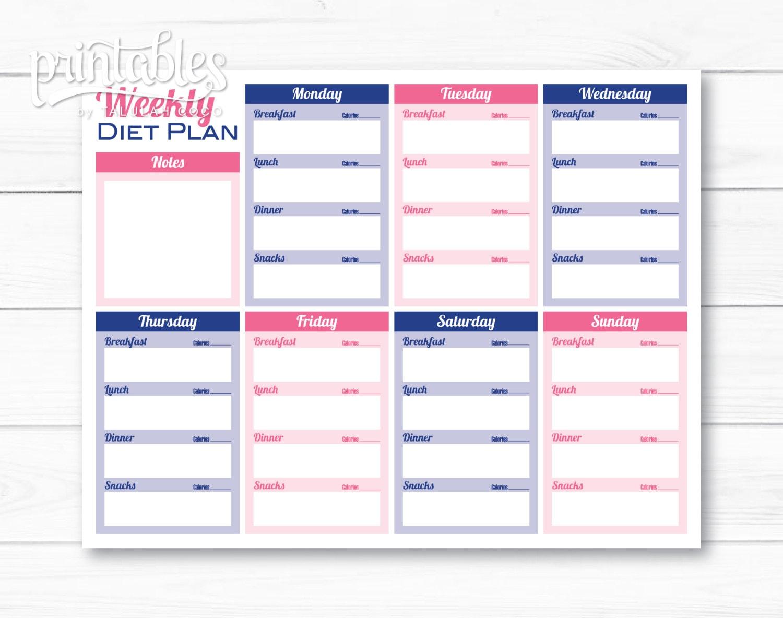 Planificador de comidas personalizables con rastreador de
