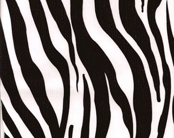 Oilcloth By The Yard Zebra Black