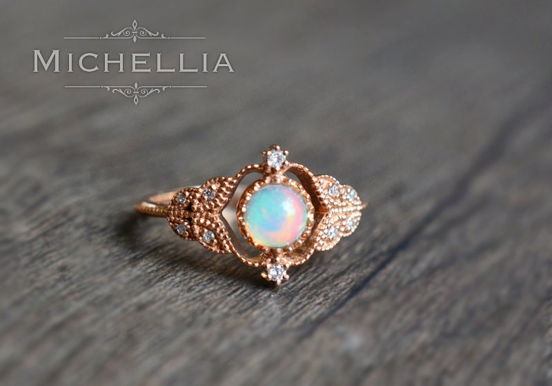 vintage opal wedding rings Wedding Decor Ideas