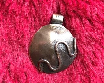Copper Pendant, Two Tone # 83