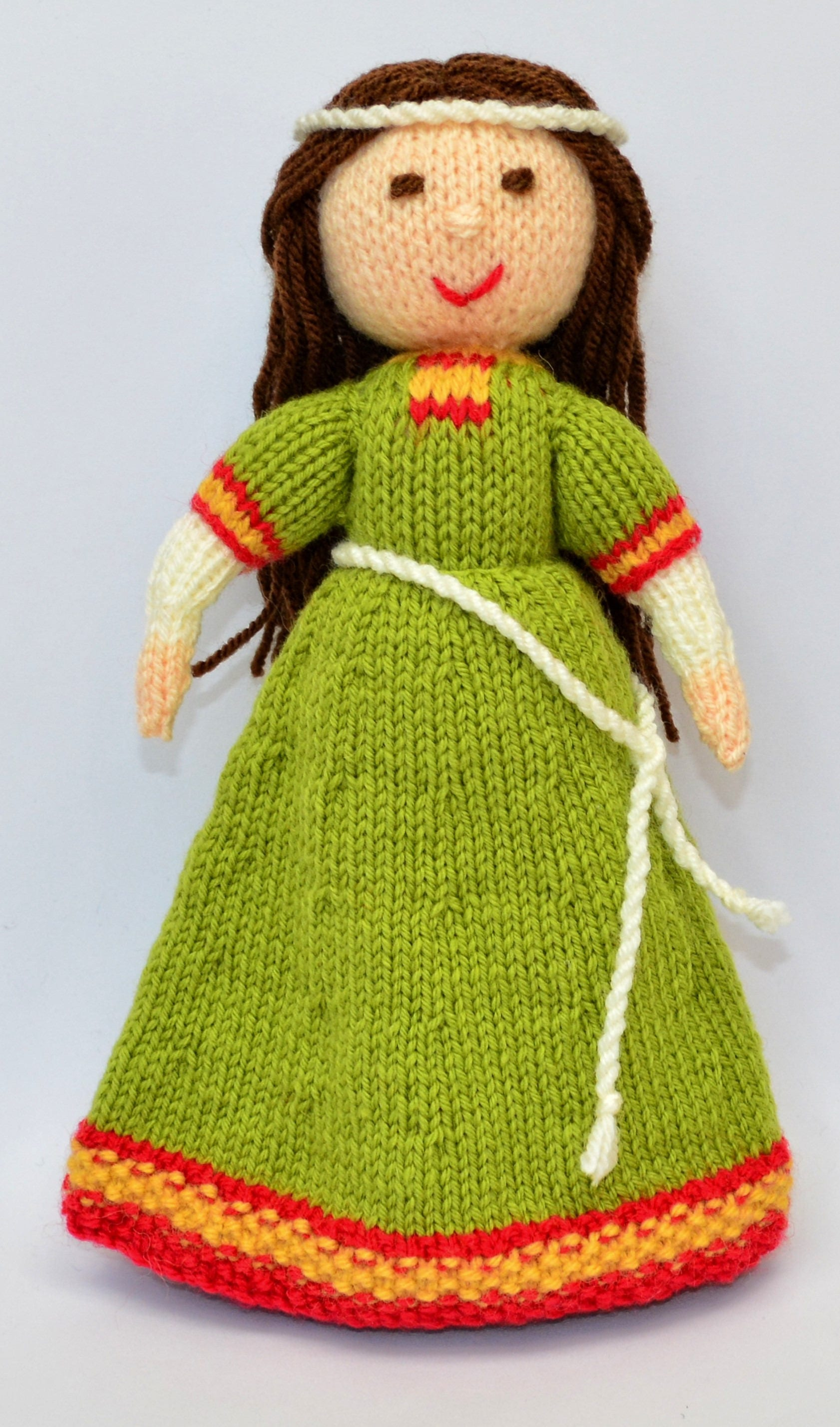 Doll Knitting Pattern - Medieval Doll - Knit Doll - Medieval Dress ...