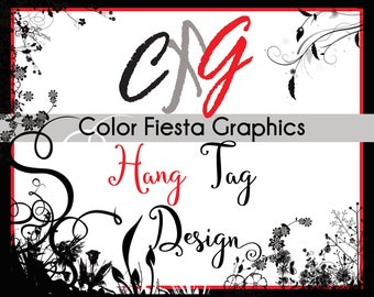 "Custom Hang Tag design - size upto 3.5""X2"""