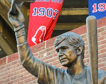 Boston Red Sox Photography / Massachusetts Photography / Wall Art / Baseball Home Decor /  Carl Yastrzemski Statue Outside Fenway Park