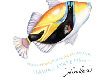 Humuhumu V-neck T-shirt  – Hawaii, Fish T-shirt, women's clothing,  tops. tees– handmade in Hawaii