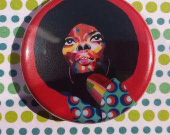 Diana Ross pin badge