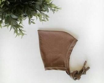 Bonnet de lutin pointu chameau chapeau moka brun