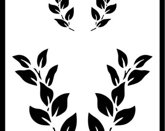 Foliage Stencil, Various Sizes Reusable Branches Leafs Trees Plants Arts Crafts Templates Masks DIY Decor Shabby Chic 190 Micron Mylar