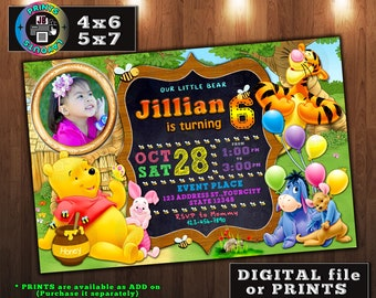 Tigger invitations etsy winnie the pooh invitation winnie the pooh birthday party tigger piglet eeyore filmwisefo Gallery