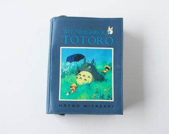 My Neighbor Totoro Leather Book Bag Miyazaki Leather Purse