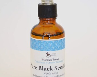 100% Pure Organic Black Seed Oil (Unrefined, Virgin)