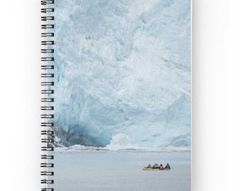 Teal Notebook ~ Travel Diary ~ Travel Journal, Glacier Spiral Notebook, Gift for Nature Lover, Nature Photography, Winter Landscape Notebook