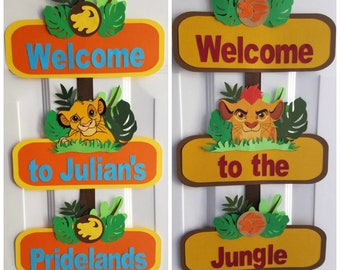 Lion King Door Sign, Lion Guard Door Sign, Simba, Kion, Lion King, Lion Guard