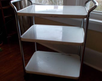 Cosco White Utility Cart for Kitchen at Ancient of Daze