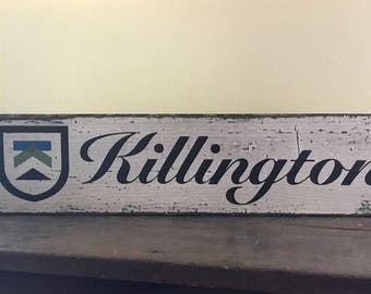 Killington Resort Sign, Handcrafted Rustic Wood Sign, Ski Resort Sign, Mountain Decor for Home and Cabin, 1128