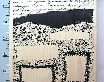 Judikins Old Text Ink Blots Frame DESTASH Rubber Stamp, Like New Rubberstamp