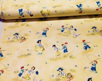 INSTOCK....Cute Kids Fabric by Red Rooste........children playing......NEW off the Bolt
