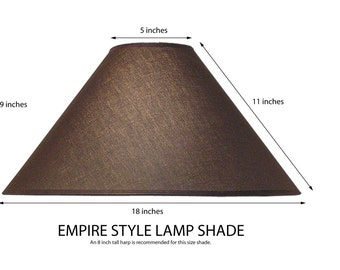 Empire Style Lamp Shade. Coolie Lamp Shade. Table Lamp Shade. Fabric Lamp  Shade