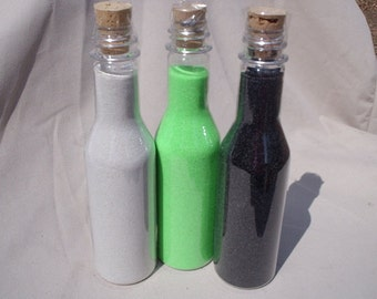 5 Bottles Unity Sand, Ceremony sand colored sand art sand