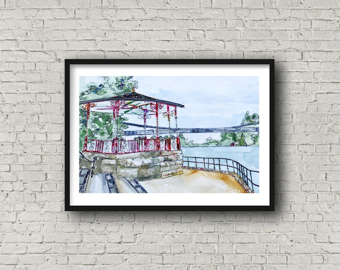 Featured listing image: The Bandstand, Chester - Print