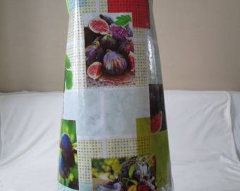 """Apron woman oilcloth pattern """"fruit, fig"""""""